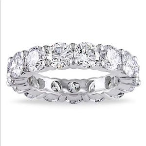 White Gold Plated CZ Eternity Band Size 5